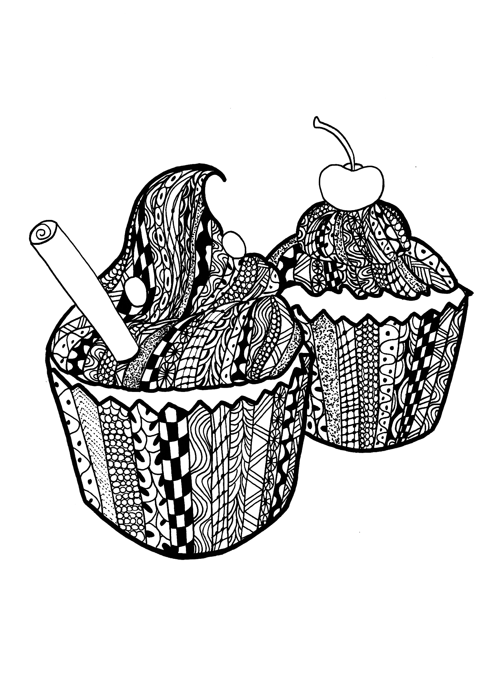Coloring Pages For Zentangle : Zentangle coloring pages for adults page