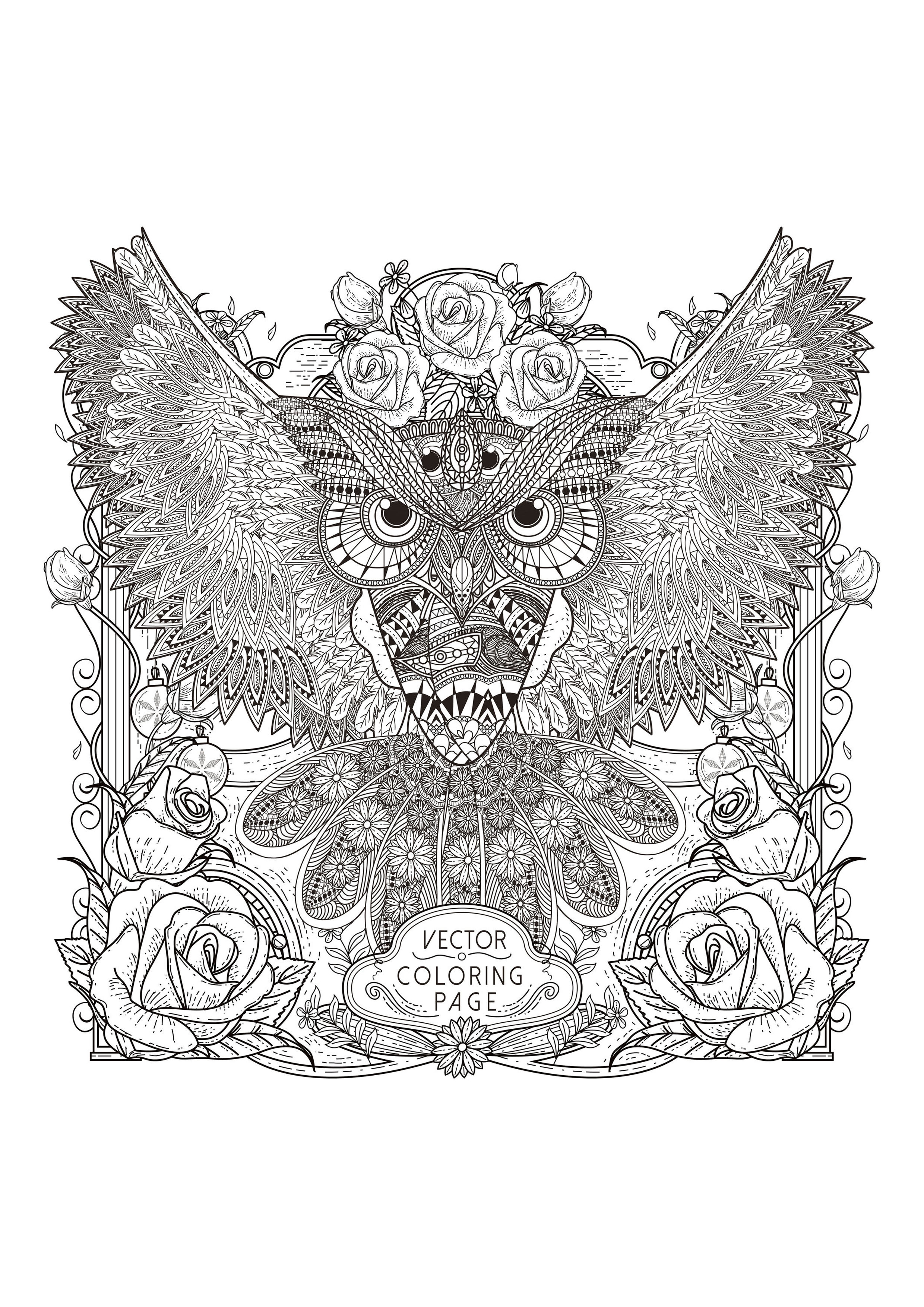 anti stress coloring pages owls - photo#24