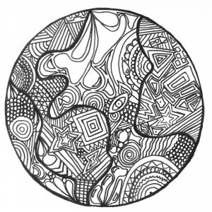 Zentangle_earth free to print