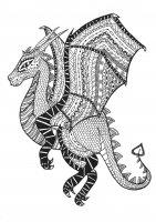coloring-page-adults-dragon-zentangle-rachel free to print