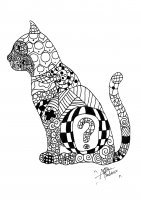 coloring-page-adults-zentangle-cat free to print